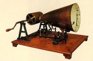 Le phonautographe gravait la musique sur un cylindre de noir de fumée
