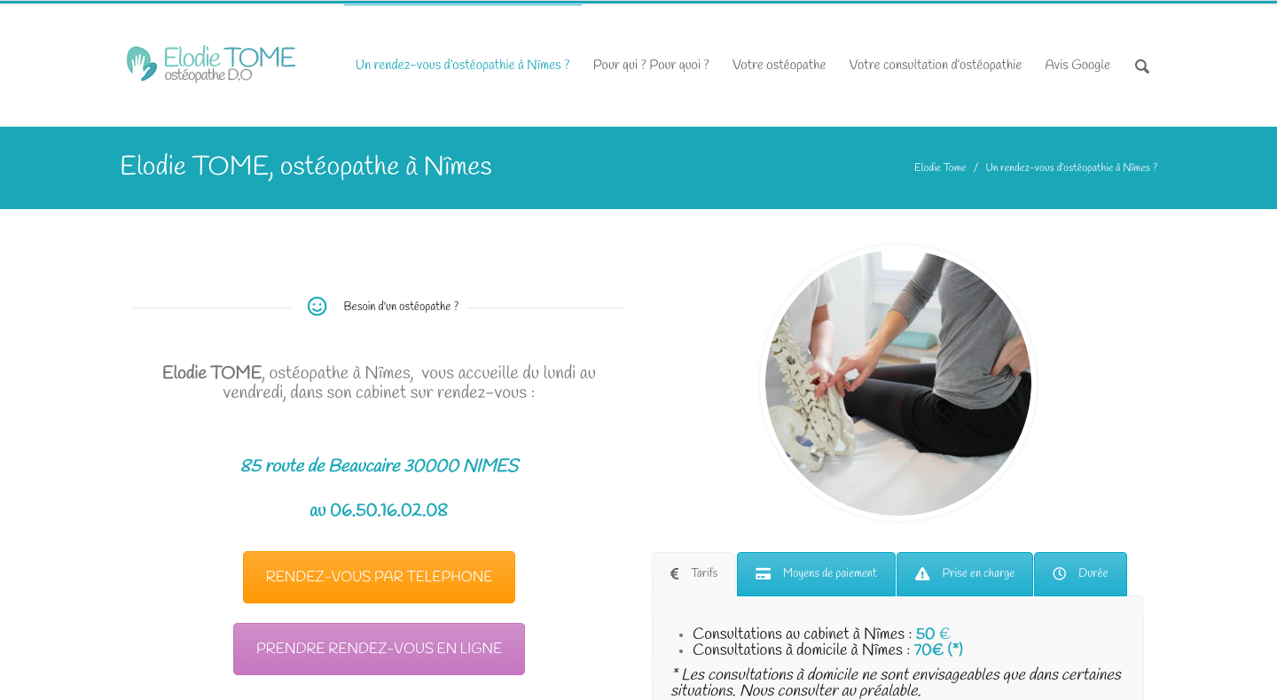 elodie Tome osteopathe